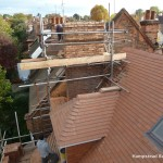 re-building of the chimney stacks