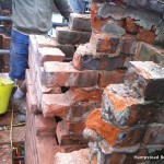 We have removed all the old bricks and chimney pots ready to rebuild the chimney